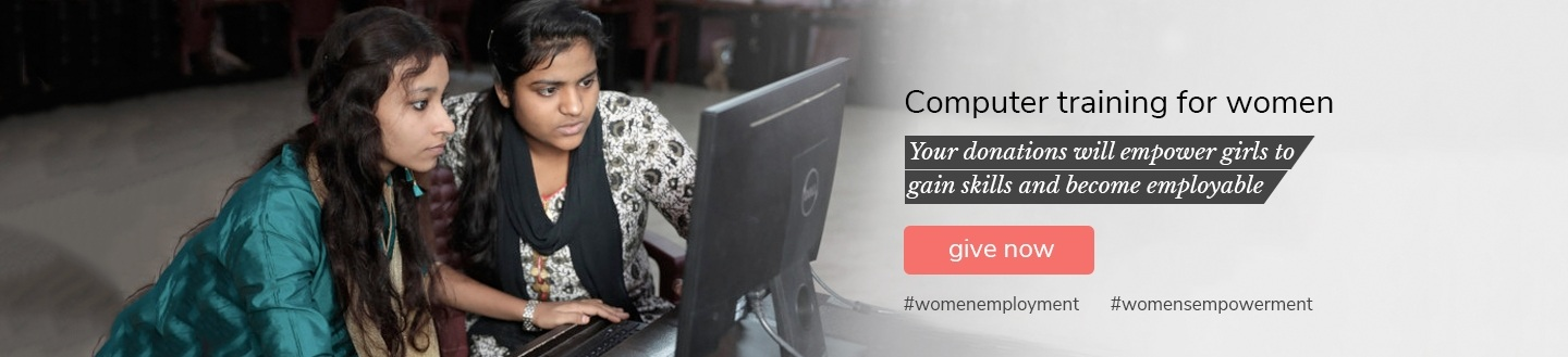 Computer training for poor women
