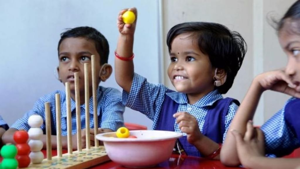 Gift a hearing aid to a hearing impaired child