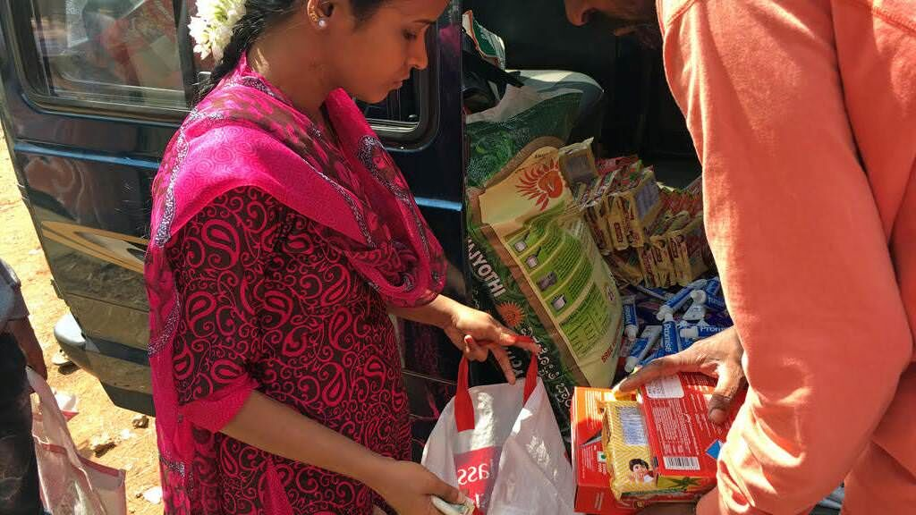 Provide a nutritional care package to HIV+ children