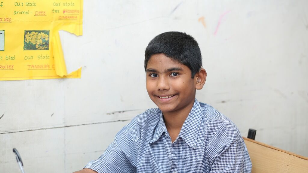 Sponsor the stay of a hearing impaired child