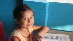 Support the food of an orphan tribal girl child