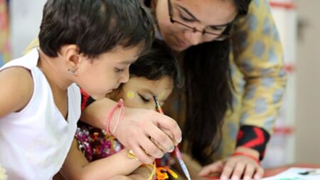 Help poor children take their first steps in education