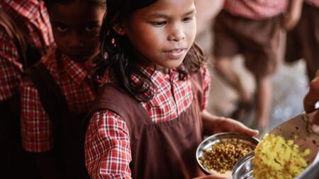 Sponsor midday meals for a poor child